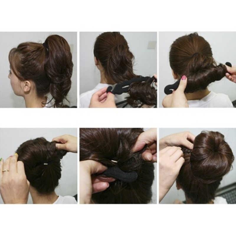 4 ชิ้น/เซ็ตผมโดนัทผู้หญิง Magic Foam ฟองน้ำผมจัดแต่งทรงผมคลิปอุปกรณ์ Donut Quick Messy Bun Updo คลิป Hairs เครื่องมือ