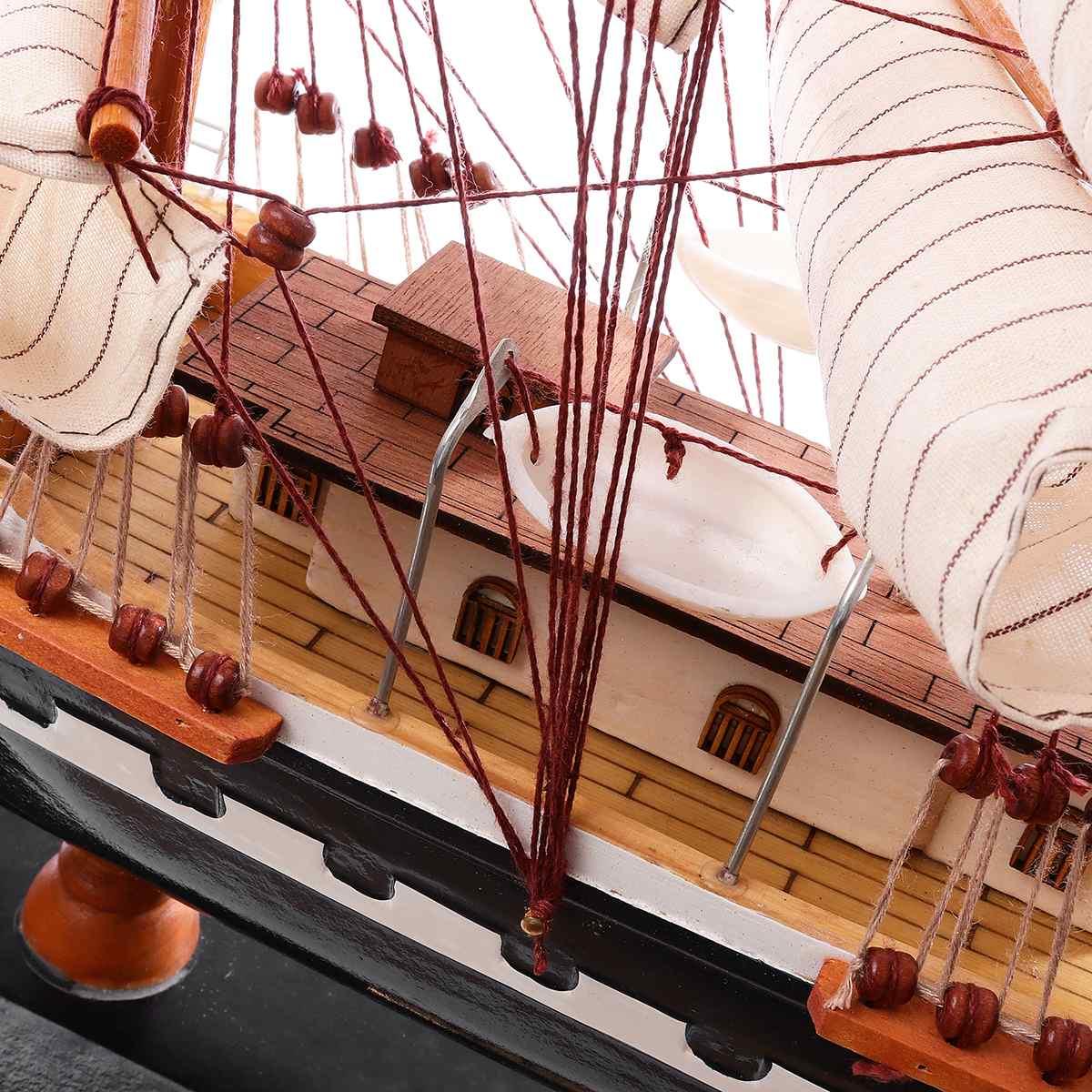 65cm Houten Zeilboot Model Zeilschip Display Schaal Boot Decoratie Gift Kits Montage Model Building Kits Geschenken Decoratie - 6