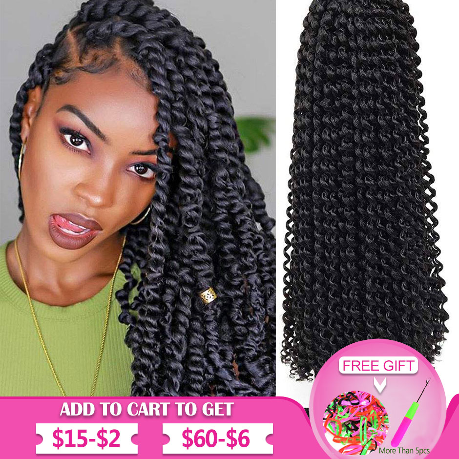 Passion Twist Hair 18Inch Water Wave Crochet Hair Passion Twist Crochet Hair Passion Twist Braiding Hair Extensions Bohemia Hair