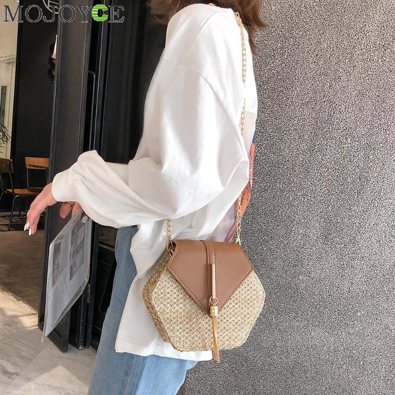 แฟชั่นหกเหลี่ยม Mulit สไตล์ + กระเป๋า pu กระเป๋าถือผู้หญิงฤดูร้อนกระเป๋าหวาย 2