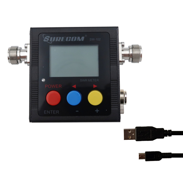 Surecom SW 102S Digital VHF/UHF 125 525Mhz SO239 Connector Power & SWR Meter (SW102 S)