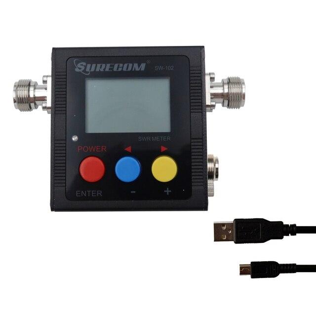 Surecom SW 102S الرقمية VHF/UHF 125 525Mhz SO239 موصل الطاقة و SWR متر (SW102 S)