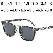 Men Polarized Sunglasses Women Square Myopia Rivets Diopter Glasses Gray Lens Sh
