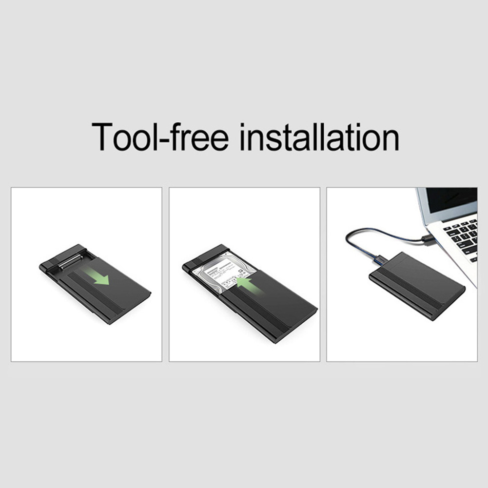 "Купить с кэшбэком 2.5"" HDD Enclosure Portable USB 3.0 High Speed Hard Drive Case SATA Mobile Hard Disk Drive SSD Box Case disco duro externo case"