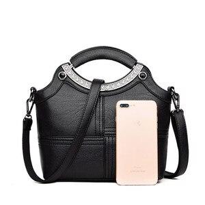 Image 4 - Bolso de mano con Concha a la moda para mujer, marcas famosas, de cuero, bandolera cruzada