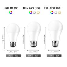 LED RGB Bulb E27 Light RGB RGBW RGBWW Dimmable IR Remote 5W 10W 15W AC 220V Colorful Magic Holiday Bar Club Night Smart Lamp