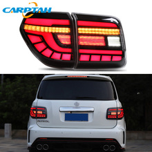 цена на Carptah Car Styling Taillight Tail Lights For Nissan Patrol 2008 - 2018 Rear Lamp DRL + Turn Signal + Reverse + Brake LED Lights