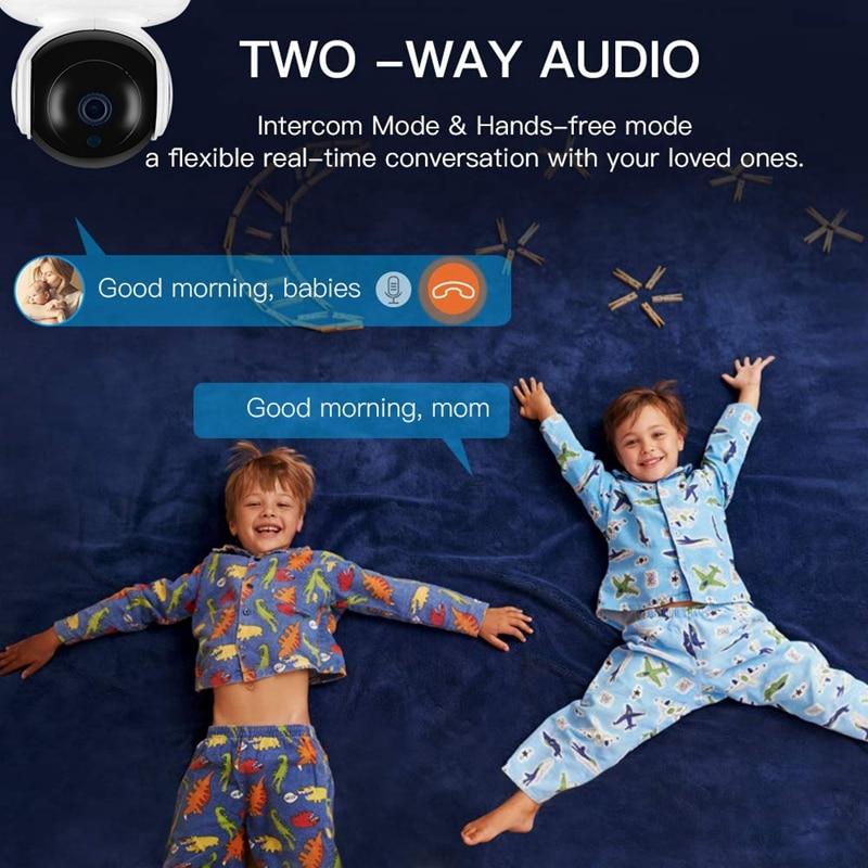 Купить с кэшбэком Tuya Smart Life WiFi Camera 2MP 1080P Home Security Mini Camera Night Vision Infrared Two Way Audio EU Plug