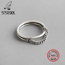 S'STEEL 925 Sterling Silver Rings For Women Retro Anel Feminino Anillo De Plata De Ley Accessories Womens Bijoux Femme 2019 Tak?