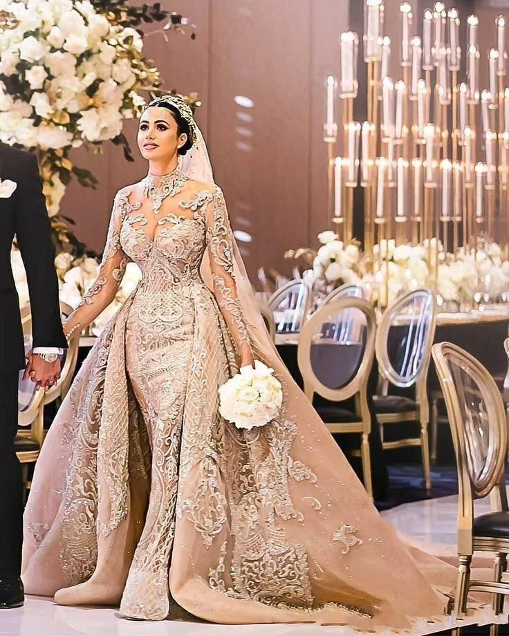 Fsuzwel Gorgeous Appliques Detachable Train Mermaid Wedding Dress 2020 New Arrival Boat Neck Long Sleeves Bridal Gown Plus Size Buy At The Price Of 259 99 In Aliexpress Com Imall Com,Nice Dresses For Traditional Wedding