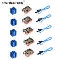 BIGTREETECH TMC2209 Драйвер шагового двигателя 3d части принтера VS TMC2130 TMC2100 для SKR V1.3 Pro Материнская плата в наличии