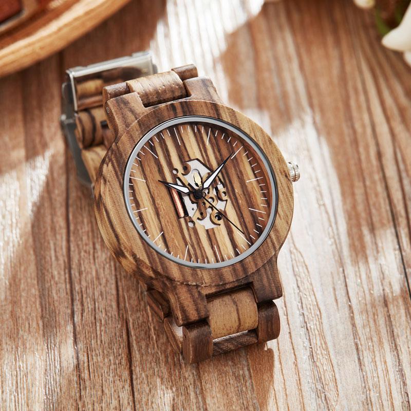 Fashion Quartz Wristwatch Men Women Couple Watch Unique Dial Bracelet Creative Wood Watch Primary Color Reloj De Mujer De Mader