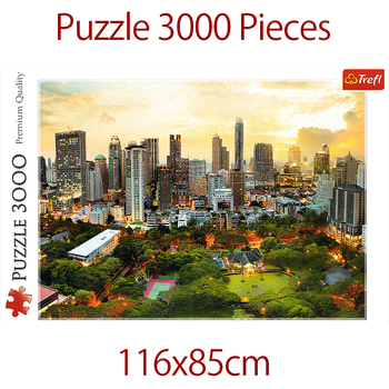 jigsaw puzzles 3000 pieces Assembling picture Landscape puzzles toys for adults games educational Montessori Toys Bangkok sunset