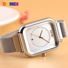 SKMEI relojes de cuarzo con movimiento japonés para mujer, reloj femenino informal, de pulsera, resistente al agua, 9207