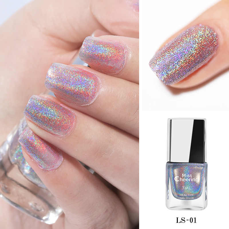 Yaliao 7ml Esmalte Para Uñas Colorido Diamante Lentejuelas Con Efecto Láser Material Respetuoso Con El Medio Ambiente Efecto Espejo 8 Modelos