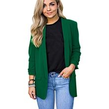 LOOZYKIT Womens Autumn Suit Jacket Chiffon Fashion long-sleeved Loose Casual Coat Office Ladies Basic 2019 New