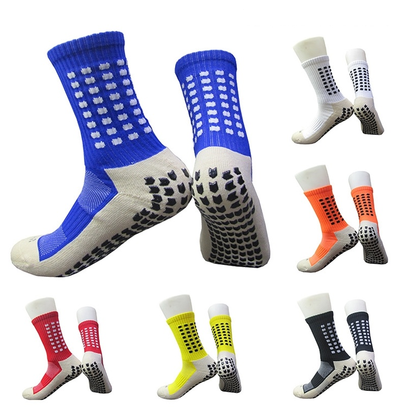 1 Pair Anti-Slip Breathable Football Socks Men Summer Running Cotton Rubber Socks Soccer Men Women Cycling Sports Accessories