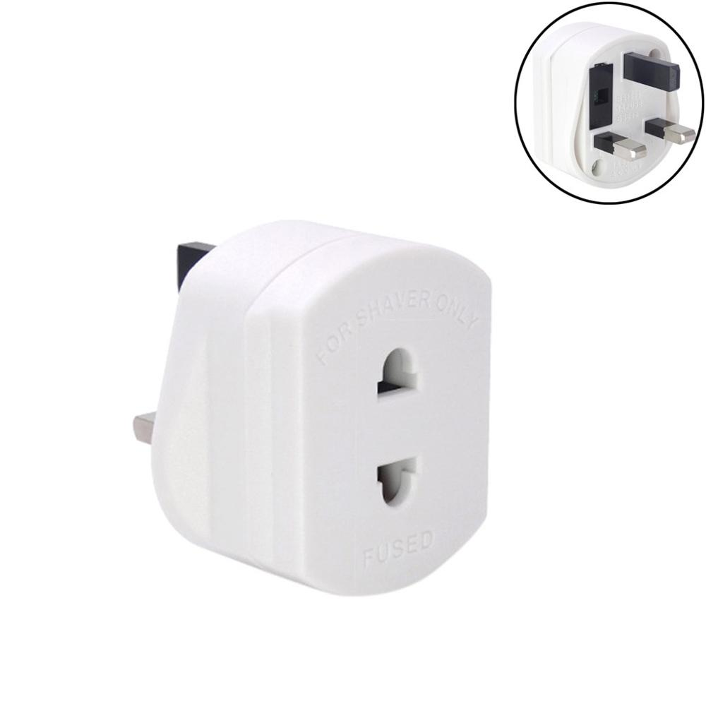 Power plug converter EU turn to UK Shaver Plug Adaptor Shaving Toothbrush Adapter Epilators Bathroom UK To 2 Pin 3 white image
