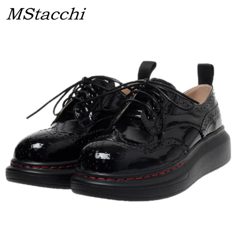 MStachi High Quality Breathable Classic Black Pumps Women Retro Cross Lacr-Up Sewing Thread Flats Shoes Woman Chaussures Femme