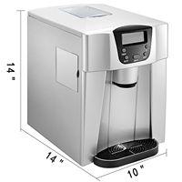 High-efficiency ice maker tela lcd bala fazer gelo 1kg armazenamento 26 libras por 24 h janela transparente fácil de observar