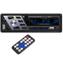 Autoradio voiture lecteur CD Automotivo 1 Din 12V Bluetooth Autoradio Audio Auto stéréo USB AUX DVD VCD CD MP3 carte SD Radios T15(China)