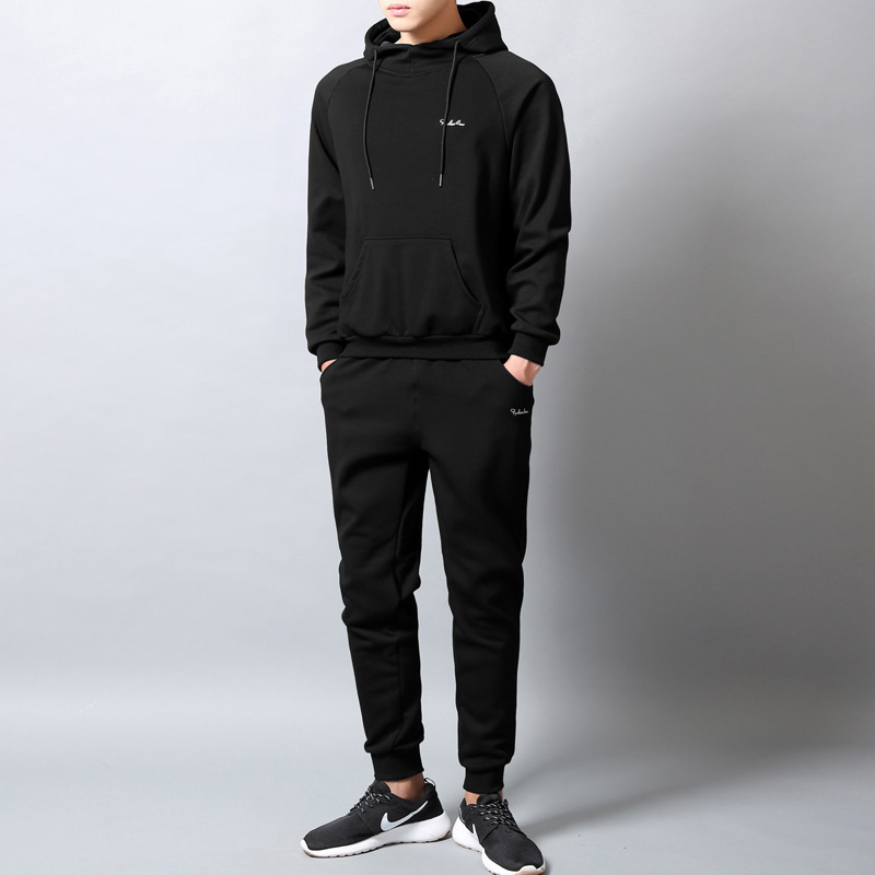 2019 Pullover Hoodie Set Korean-style Autumn And Winter New Style Casual Sports Clothing Trend Two-Piece Set