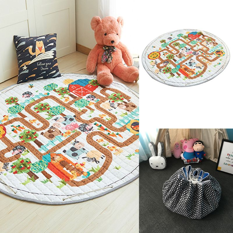 Baby Game Crawling Mat Picnic Carpet Living Children Room Decorative Floor Mats K4UE