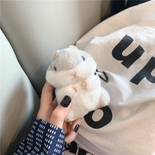 Cute Fluffy Hamster Wireless Earphone Case for AirPods 2 for Apple Air Pods 1 Cover Earpods