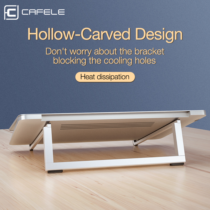 Cafele Folding Notebook Laptop Stand Holder Aluminum Foldable Stand For Apple MacBook Mac Book Lenovo Huawei Computer Anti slip in Phone Holders Stands from Cellphones Telecommunications