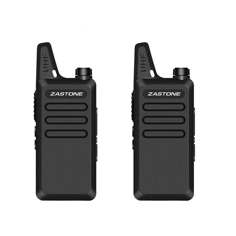 2PCS Zastone X6 Mini Walkie Talkie Headset 400-470Mhz Frequency UHF Handheld Radio Intercom Two-Way Radio Security Equipment
