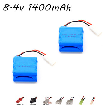 2pcs/lot 8.4V 1400mAh AA Ni-CD Rechargeable Battery for RC car boat guns lighting remote control toys Spare Parts image