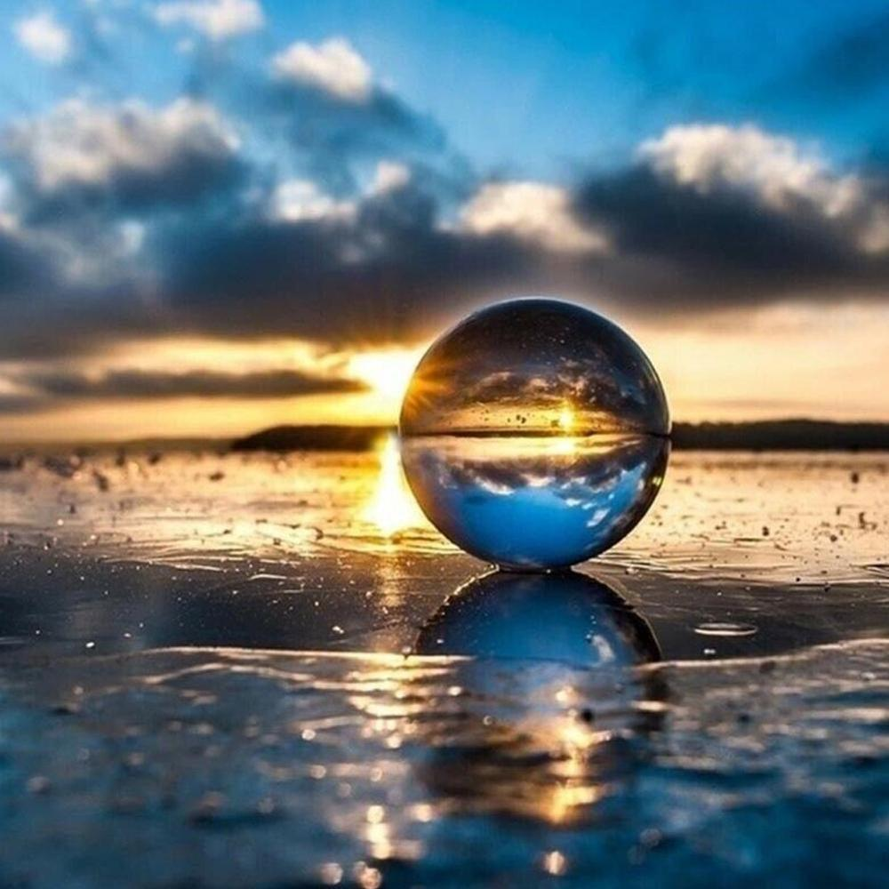 Photography Glass Crystal Ball 40/50mm Sphere Photography Photo Shooting Props Lens Clear Round Artificial Ball Decor Gift