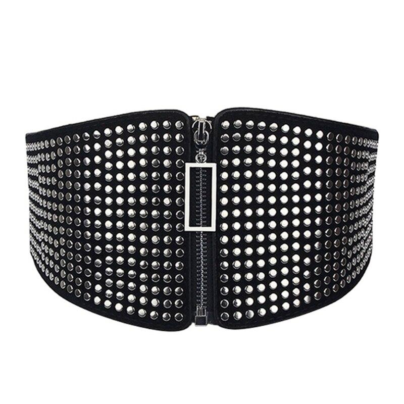 Female Ultra Wide Belt For Dress Punk Ladies Slim Waist Cincher Belt For Women