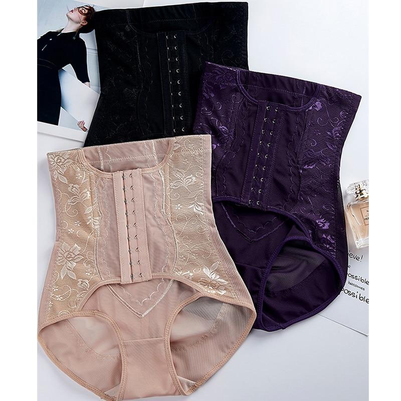 Inadice Sexy Lace Corset Belt Seamless Tummy Shaper Polyester Elastic Belt Solid Ladies Underwear High Waist Control Panties