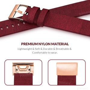 Image 2 - YOOSIDE pour bracelet Fenix 6S 20mm bracelet de montre en toile de Nylon tissée à ajustement rapide pour Garmin Fenix 5 S/5 S Plus/Fenix 6S Pro