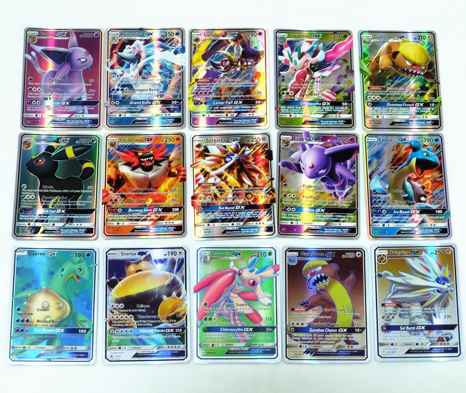 New Pokemon English Card GX MEGA Shining Cards Game Battle Carte Trading Cards Game Children Toy