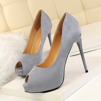 New 2018 Peep Toe High Heels 12CM Summer Fashion Thin Heel Women Sandals Spring Shallow Mouth Nude Shoes Banquet DS-B0045