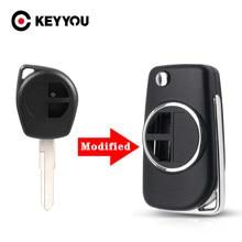 KEYYOU – étui à clé pour Suzuki SX4 Swift Grand Vitara, boîtier de remplacement HU133R, lame non coupée, 2 boutons