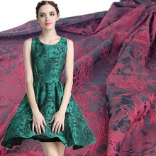 Jacquard brillante lazo de brocado tela para vestido, Diy Apparel Material de costura de mosaico tela de encaje, 1 yarda Width150cm