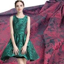 Tissu brillant en dentelle Jacquard pour brocart, 1 mètre, 150cm de large, pour la couture, en Patchwork, bricolage même