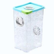 Пластиковая коробка для кубического mantis, Кристальный бак для насекомых, для маленьких животных, для кормления, PS клетка, рептилии, для отдыха, развлечения, для среды обитания домашних животных, контейнер