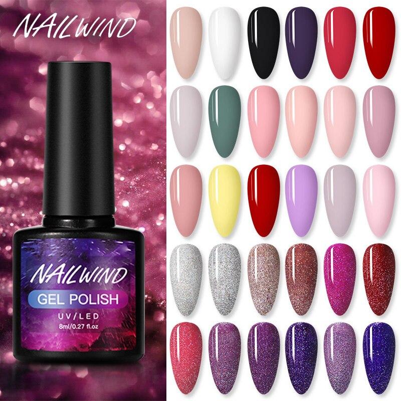 NAILWIND лак для ногтей Гибридный Лаки 8 мл Маникюр Nail Art! Полупостоянная нужно УФ светодиодный лак для ногтей GelPolish лаки для ногтей Гель-лак для н...