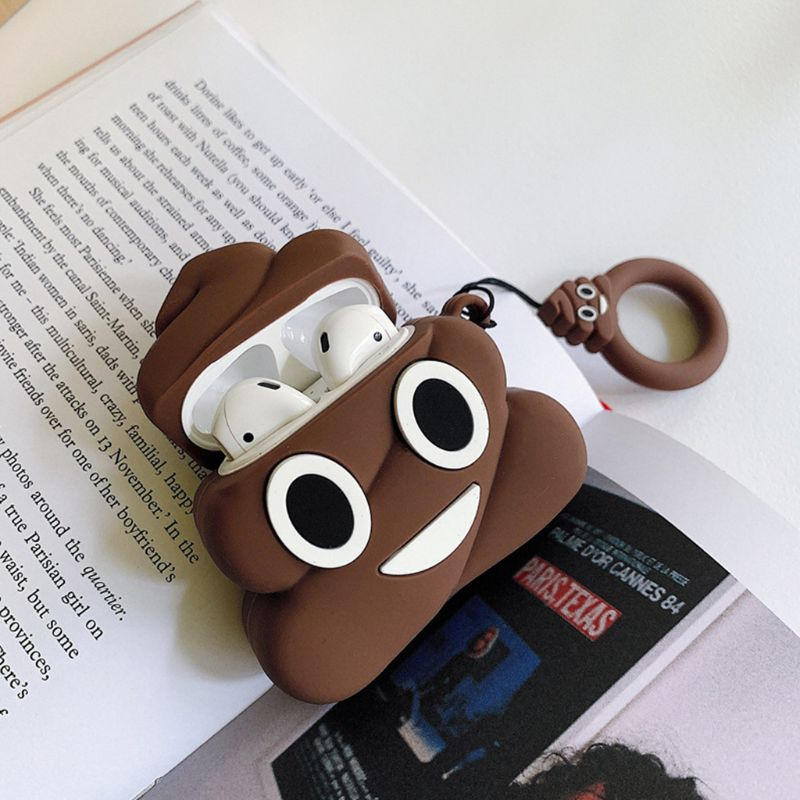 Funny Poop Pattern Airpods Case 3