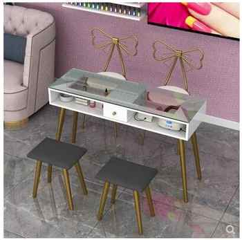Nail art table special economical single table and chair set double simple modern Nordic online celebrity