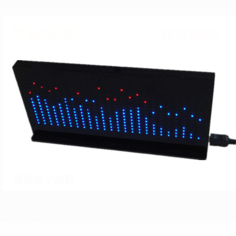 AS1424 DIY комплекты Автомобильный музыкальный спектр дисплей светодиодный индикатор уровня DC 5 в электронный монитор уровня спектра