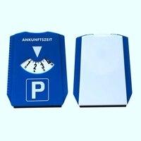1Pcs 자동차 주차 디스크 타이머 시계 도착 시간 표시 파란색 플라스틱 주차 시간 도구