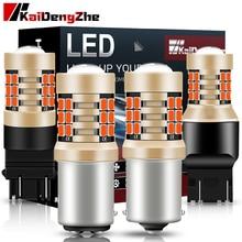 1PCS 21SMD Car Light Brake Light BA15S P21W 1156 BAY15D P21/5W 1157 3157 7443 T20 12V Automotive LED Lamp White Red For Car
