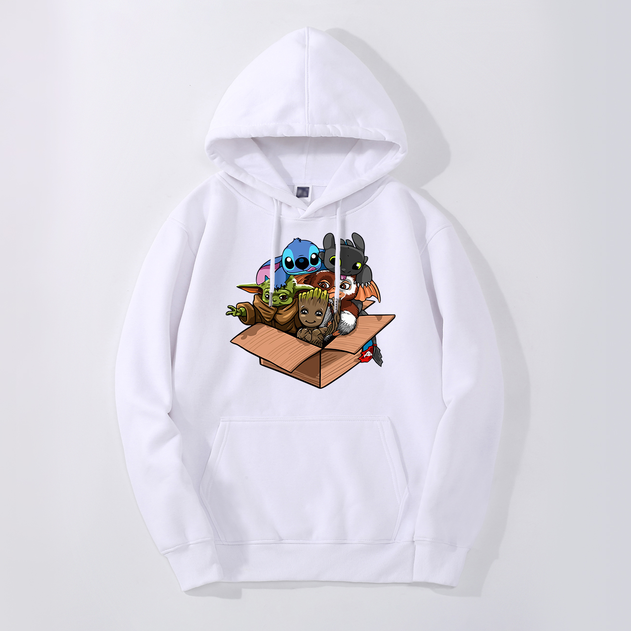 Kawaii Full Team Men's Hoodies Spring Autumn Baby Yoda Young Cute Groot Hoodies Sweatshirts Men Fleece Tops Hoodies Sweatshirt