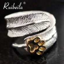 Ruibeila подлинное кольцо в индийском стиле с перьями и медвежьими