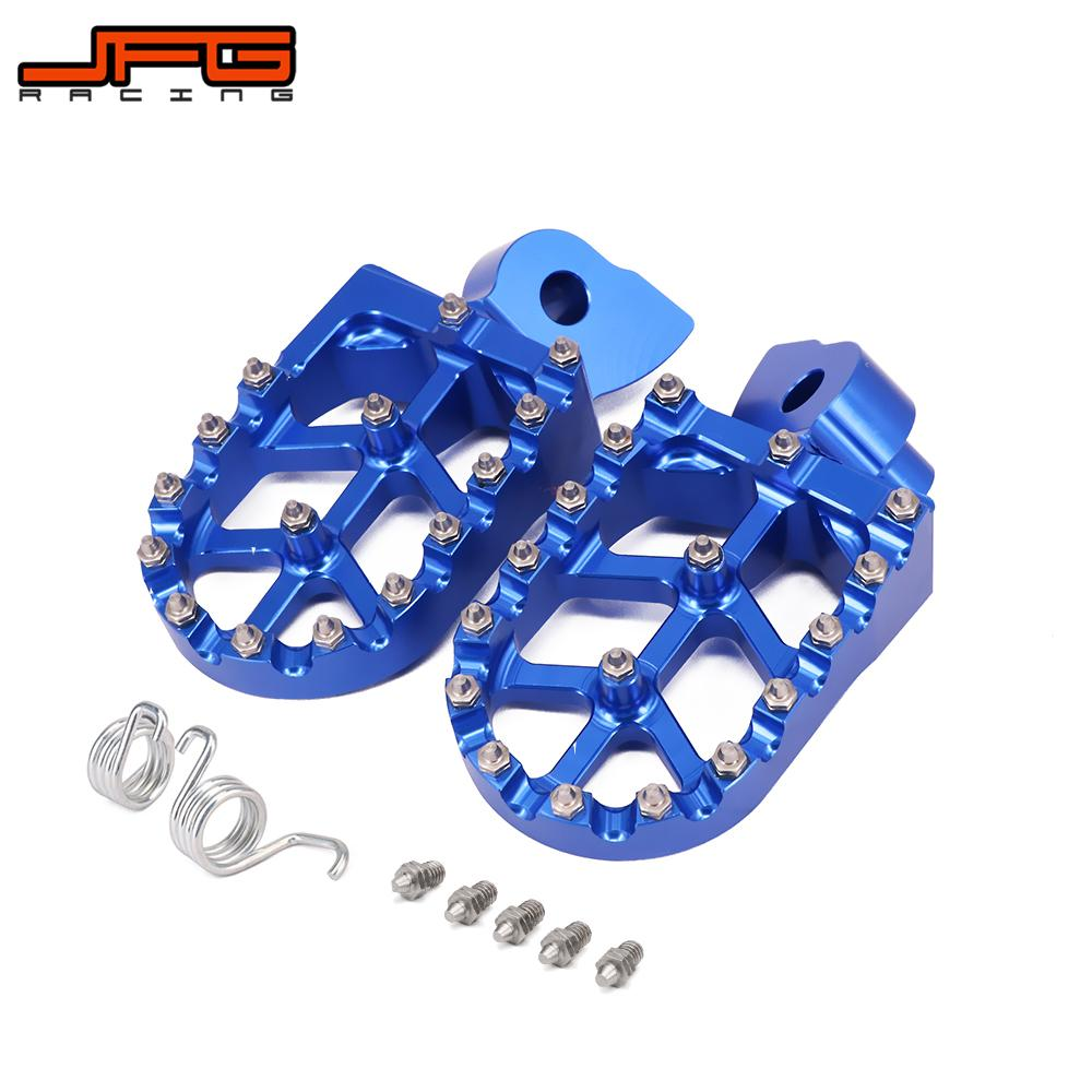 Motorcycle CNC Foot Pegs Rests Footrest Footpeg Pedals For YAMAHA YZ 85 125 250 YZ250F YZ426F YZ450F WR250F WR400F WR426F WR450F